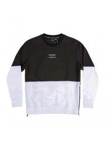 [thepartment] SIDE ZIPUP CREWNECK SHIRTS - Black