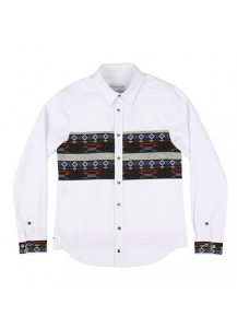 [thepartment] NAVAJO SHIRTS JACKET WHITE