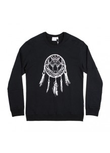 [thepartment] DREAMCATCHER CREWNECK SWEAT SHIRTS BLACK