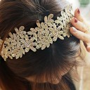 Thread flower headband