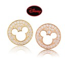[Authentic Disney] *92.5% Silver POST* Mickey cubic round earrings