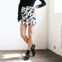 Floral Patterned Mini Skirt