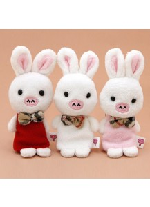 [You Are So Beautiful] Pig Rabbit Doll Cellphone Cleaner Strap /イケメンですね 子豚&ウサギ クリーナー付きストラップ