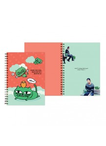 [2PM] OKCAT SPRING NOTE - OK TAC YUN CAT CHARACTER [Official MD Goods]/OKCAT スプリングノート