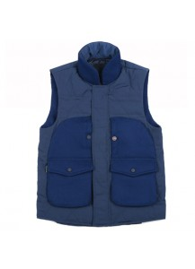 [thepartment] STAR QUILTING VEST NAVY