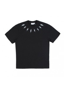 [thepartment] NECK LINE FEATHER SHOT SLEEVE BLACK