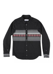 [thepartment] NAVAJO SHIRTS JACKET BLACK